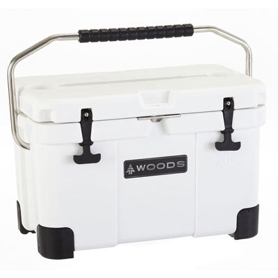 key features Woods Arctic White Standard Cooler 20 Quart Roto-Molded