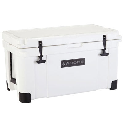 key features Woods Arctic White Super King Cooler 75 Quart Roto-Molded
