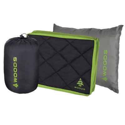 key features Woods Composite Comfort Camping Pillow