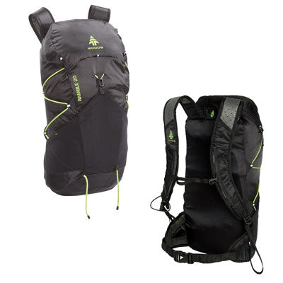 key features Woods Ramble 20L Ultralight Packable Hiking Backpack / Daypack - Black
