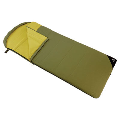 key features Woods Fernie Camping Sleeping Bag: 32 Degree - Green