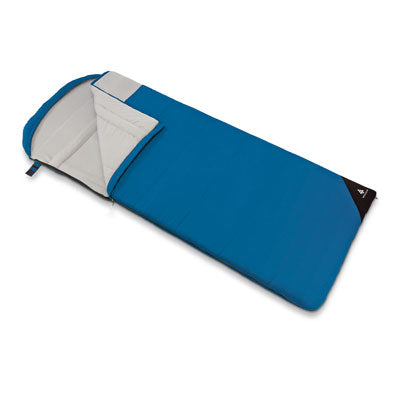 key features Woods Fernie Camping Sleeping Bag: 41 Degree - Blue