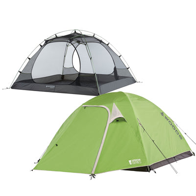 key features Woods Cascade Lightweight 4-Person 3-Season Tent