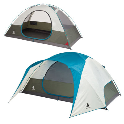key features Woods Creekside 8-Person 3-Season Tent