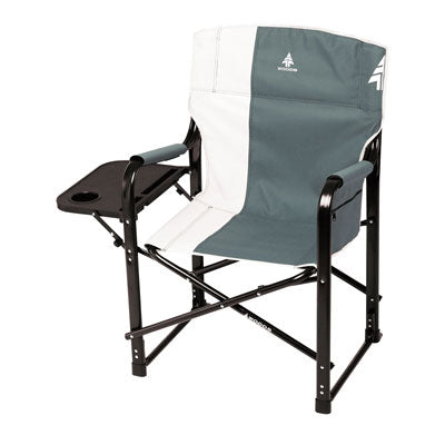 key features Woods Folding Directors Camping Chair With Table - Gunmetal