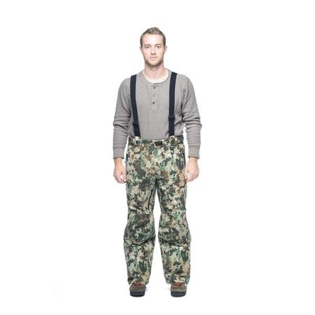 key features Woods Expedition & Hunting Pant Insulated Overalls- Camo Water Fowl
