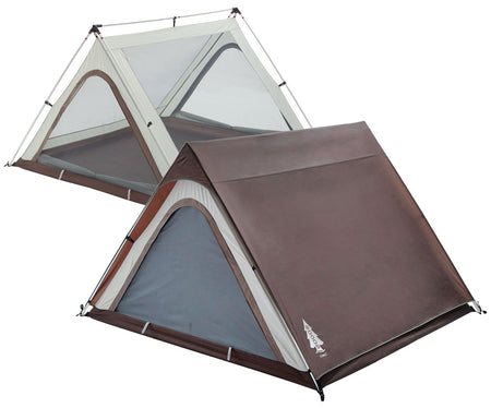 key features Woods A-Frame 3-Person 3-Season Tent - Brown