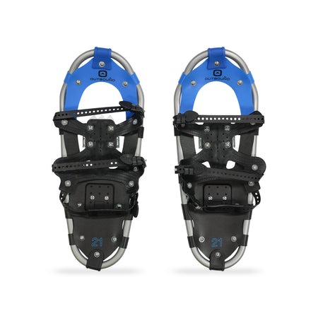 key features Outbound All-Terrain Lightweight Aluminum Frame Snowshoes 21 Inch, 120 lb Capacity