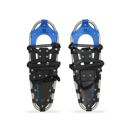 key features Outbound All-Terrain Lightweight Aluminum Frame Snowshoes 25 Inch, 160 lb Capacity