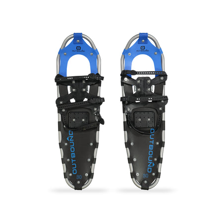 key features Outbound All-Terrain Lightweight Aluminum Frame Snowshoes 30 Inch, 210 lb Capacity