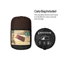 Load image into Gallery viewer, Woods Heritage Cotton Flannel Camping Sleeping Bag: 32 Degree - Brown