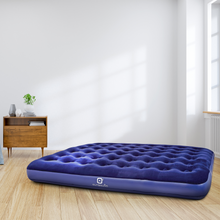 Load image into Gallery viewer, Outbound Queen Lightweight Portable Flocked Air Mattress