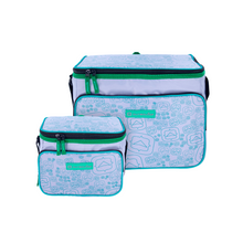 Load image into Gallery viewer, Outbound Picnic and Camping 2-Piece Insulated Soft Cooler Set - 24 and 6 Can Capacity