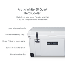 Load image into Gallery viewer, Woods Arctic White King Cooler 58 Quart Roto-Molded