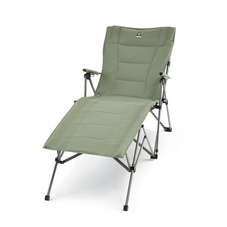 key features Woods Ashcroft 3-Position Reclining Camping Lounger Chair - Sea Spray