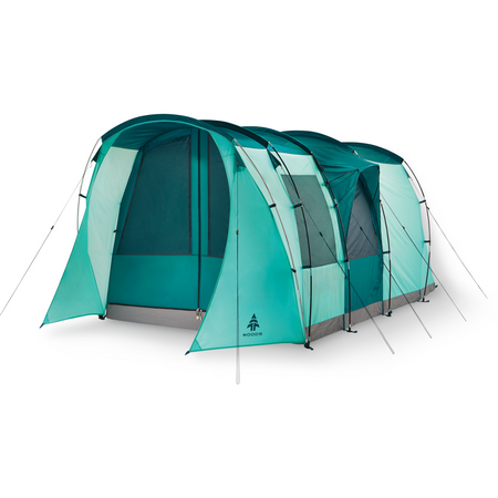 key features Woods Refuge 6-Person 3-Season Quick-Set-Up Tent - Green