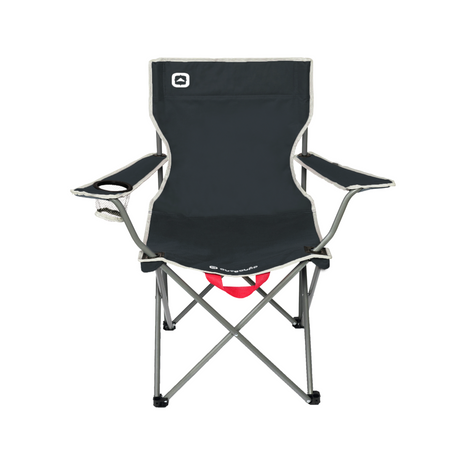 key features Outbound Portable Folding Wide Back Quad Camping Chair with Cup Holder - Black