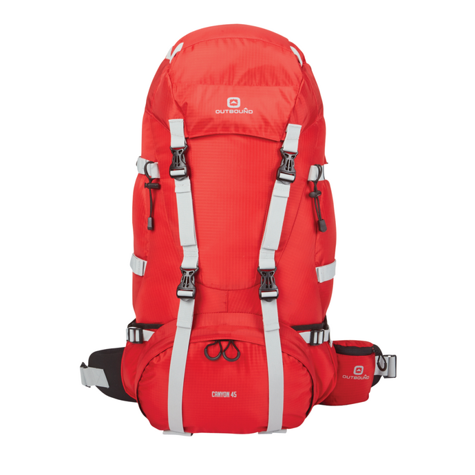 Outbound Canyon Hiking Backpack 65L - Red