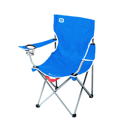 key features Outbound Portable Folding Quad Camping Chair with Cup Holder - Blue