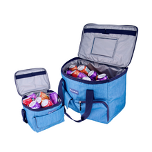 Load image into Gallery viewer, Outbound Picnic and Camping 3-Piece Insulated Soft Cooler Set with Tote Bag - 30 Can and 6 Can Capacity
