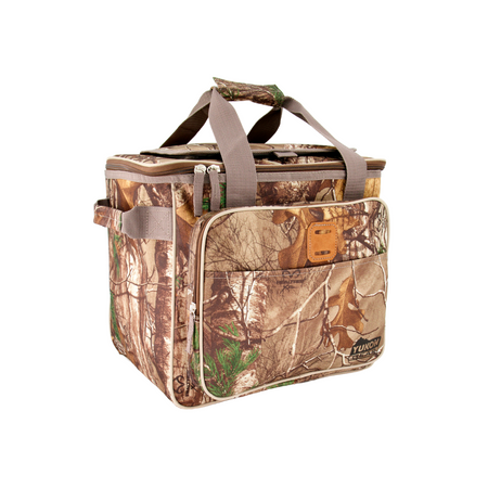 key features Outbound Hunting and Camping RealTree Camo Print Insulated Soft Cooler Bag - 25 Can Capacity
