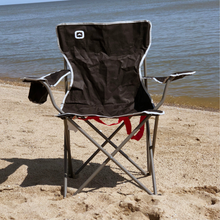 Load image into Gallery viewer, Outbound Portable Folding Wide Back Quad Camping Chair with Cup Holder - Black