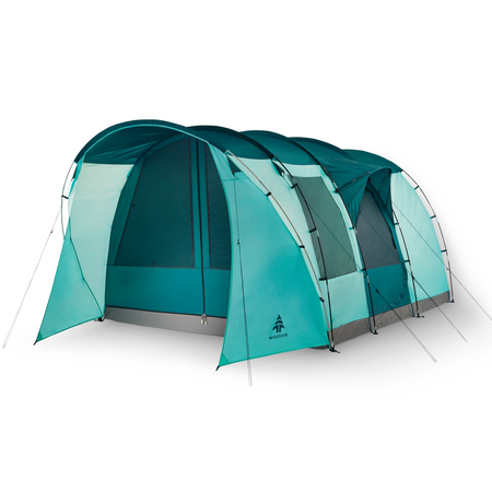 key features Woods Refuge 8-Person 3-Season Quick-Set-Up Tent - Green