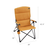 Load image into Gallery viewer, Woods Siesta Folding Reclining Padded Camping Chair - Dijon