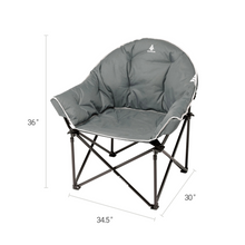 Load image into Gallery viewer, Woods Strathcona Fully Padded Folding Camping Bucket Chair -  Gray