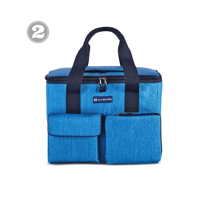 Outbound Picnic and Camping 3-Piece Insulated Soft Cooler Set with Tote Bag - 30 Can and 6 Can Capacity