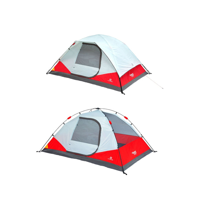Outbound 5-Person 3-Season Instant Pop-Up Dome Tent with Carry Bag and Rainfly - Red