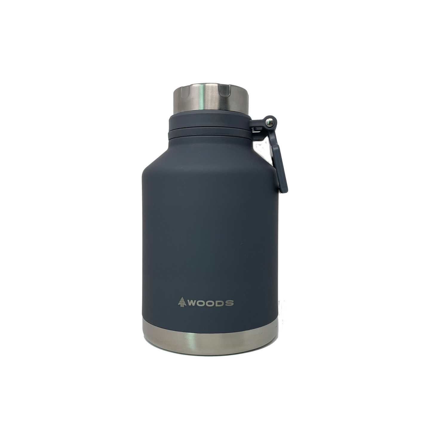 Woods 41 oz Growler / Tumbler Vacuum Insulated Stainless Steel Water Bottle Gray
