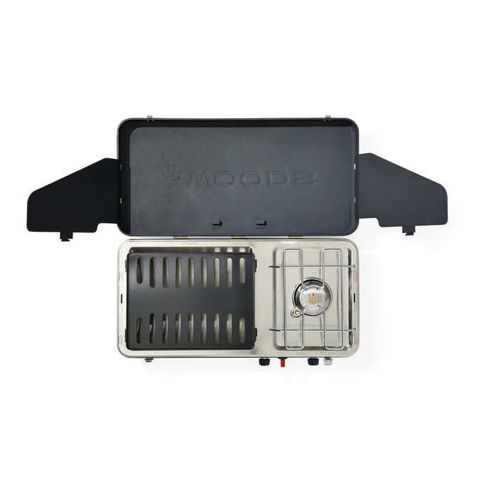 Woods 2-in-1 Grill & Burner Propane Camping Stove - Black