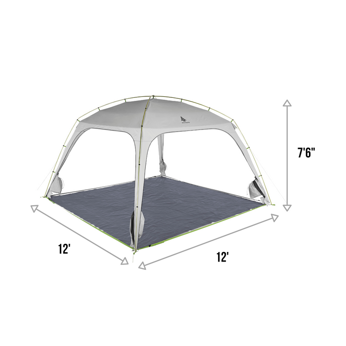 Woods Easy Setup Canopy Tent / Screen House For Camping / Picnic Shelter / 12' x 12'