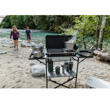 Load image into Gallery viewer, Woods 2-in-1 Grill & Burner Propane Camping Stove - Black