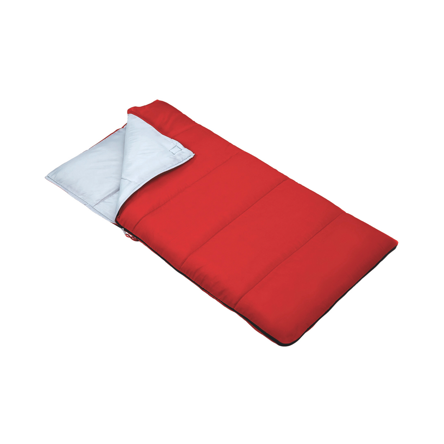 Outbound Kids' Compact Lightweight Camping Sleeping Bag: 43 Degree - Red