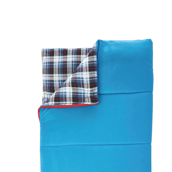 Outbound Kids' Compact Lightweight Camping Sleeping Bag: 43 Degree - Blue