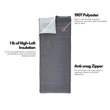 Load image into Gallery viewer, Outbound Compact Ultra Lightweight Camping Sleeping Bag: 43 Degree - Gray