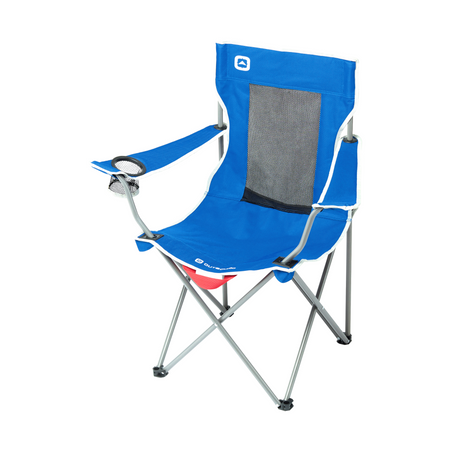 key features Outbound Folding Quad Camping Chair with Mesh Back and Cup Holder - Blue