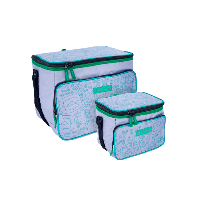 Outbound Picnic and Camping 2-Piece Insulated Soft Cooler Set - 24 and 6 Can Capacity