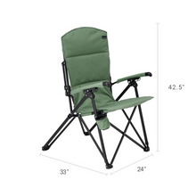 Load image into Gallery viewer, Woods Siesta Folding Reclining Padded Camping Chair - Sea Spray