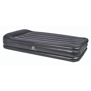 Outbound Double-High Twin Air Mattress with Built-in Pillow - Black