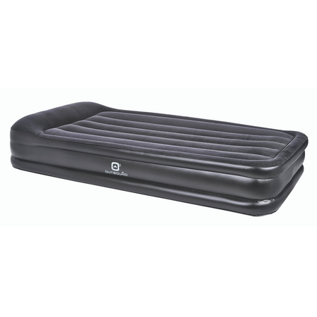 key features Outbound Double-High Twin Air Mattress with Built-in Pillow - Black