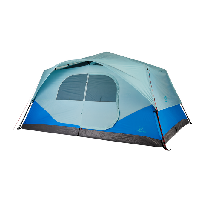 Outbound 10-Person 3-Season Instant Pop-Up Cabin Tent with Carry Bag and Rainfly - Blue