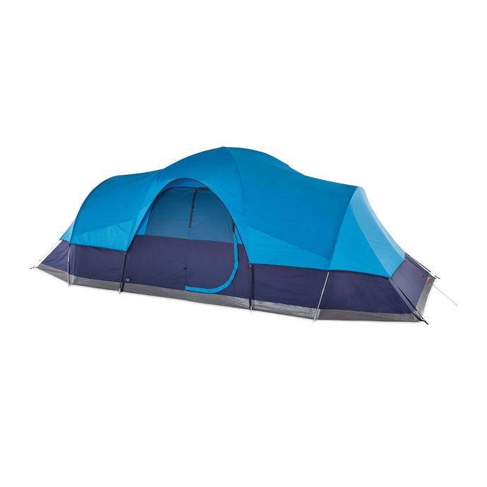Outbound 12-Person 3-Season Lightweight Dome Tent with Carry Bag and Rainfly - Light & Navy Blue