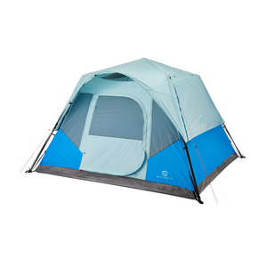 Outbound 6-Person 3-Season Instant Pop-Up Cabin Tent with Carry Bag and Rainfly - Blue