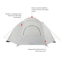 Load image into Gallery viewer, Outbound Cache 8-Person 3-Season Black-Out Dome Tent with Carry Bag and Rainfly - FEATURES