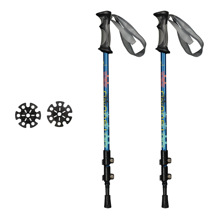 Outbound Lightweight Aluminum Frame Snowshoe Bundle 30 Inch, 250 lb Capacity, with Adjustable Poles and Carry Bag