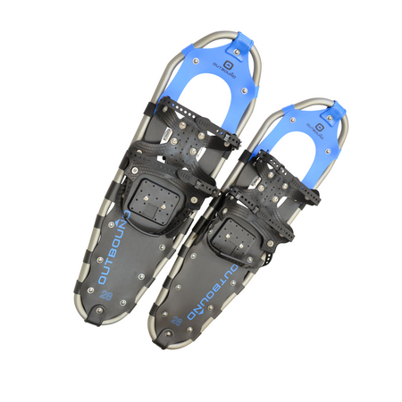 key features Outbound All-Terrain Lightweight Aluminum Frame Snowshoes 28 Inch, 190 lb Capacity