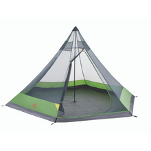 Load image into Gallery viewer, Outbound 6-Person 2-Season Teepee Tent with Carry Bag and Rainfly - Green INTERIOR